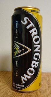 can of Strongbow